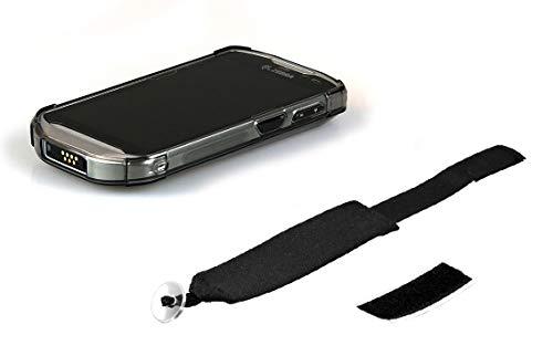 Schutzhülle für Zebra TC56 / TC57 Handheld-Computer, halbtransparent, mit Handschlaufe, Schwarz