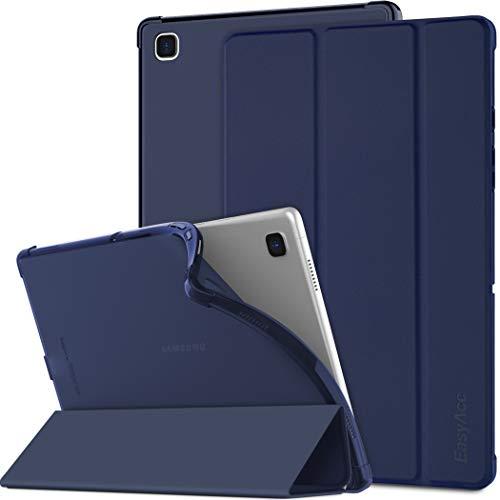 EasyAcc Funda Compatible con Samsung Galaxy Tab A7 2020 10.4 Pulgadas SM-T500 T505 T507, Superligera Translúcida Carcasa con Soporte Función Cover Case de TPU, Azul