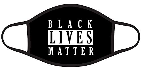Black Lives Matter Graphic Printed 2 Ply Face Mask Bandana Balaclava (BLACK-M2026)