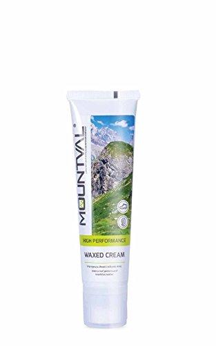 Mountval Wachscreme Creme zur Pflege und Imprägnierung von Trekkingschuhen aus Leder | Inklusive Schwamm zum Auftragen (schwarz)