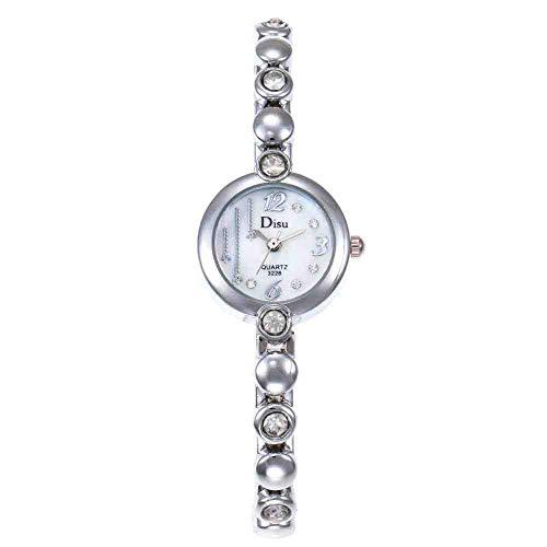 OLUYNG Armbanduhr Neue Legierung Wasser Bohrer Mode lässig aufbau persönlichkeit Armbanduhr mädchen niedlich sternuhr weiß