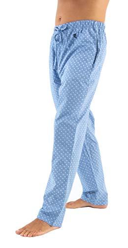 El Búho Nocturno - Pantalón de Pijama Suelto de Hombre | Pantalón de Pijama Caballero, Entretiempo, clásico, a Rayas o Cuadros | Ropa de Dormir para Hombre - Popelín, 100% algodón