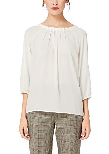 s.Oliver BLACK LABEL Damen 11.908.19.2893 Bluse, Elfenbein (Cream White 0220), (Herstellergröße:40)