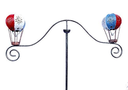 SK Style Gartenwind-Spinner-Skulptur - roter weißer und Blauer Heißluftballon
