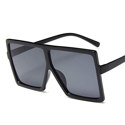 CNBKMG Plastic Over-Sized Women Driver Googles Sunglasses Square Big Frame Sunglasses For Female Uv400-Bright Black
