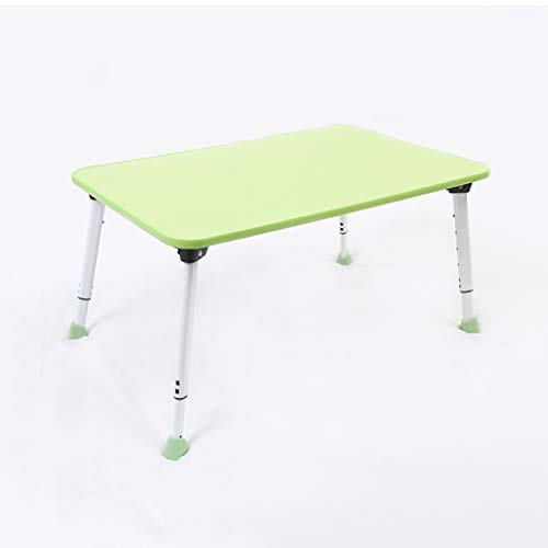 Laptop Bed Tray Table, Adjustable Height, with Foldable Legs/Storage Drawer/Cup Slot for Eating, Writing, Reading, Working on Bed/Couch Green