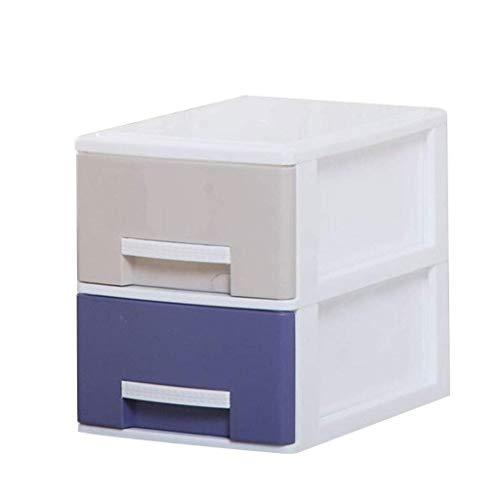 FACAIA Archivadores Verticales 2 cajones Dormitorio Armario de Almacenamiento de Datos Caja de Almacenamiento de Ropa estantería de plástico Multicolor (tamaño: Grande)