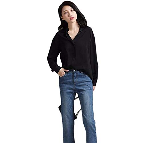 Lange Vrouw mouwen blouse Wit overhemd Dames Pocket shirt Vrouwen Casual Tops Plus Size elegante vrouwelijke Blouse For Girls