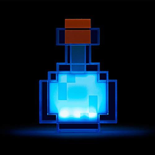Cambio de colores de la botella de la poción de la luz de 8 colores que cambian de la lámpara led de 7 pulgadas de la noche modelo