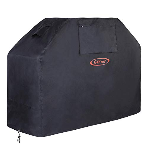 G4Free BBQ Grill Cover 52' New Material PU Coating Anti-UV Gas Grill Cover More Lightweight and Stronger All Weather for Weber Char-Broil Nexgrill, Brinkmann Holland Grills and More