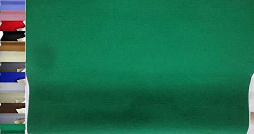 StoffBook EDEL BASTELFILZ FILZSTOFF SELBSTKLEBEND 100CM BREIT STOFF STOFFE, C349 (GRÜN)