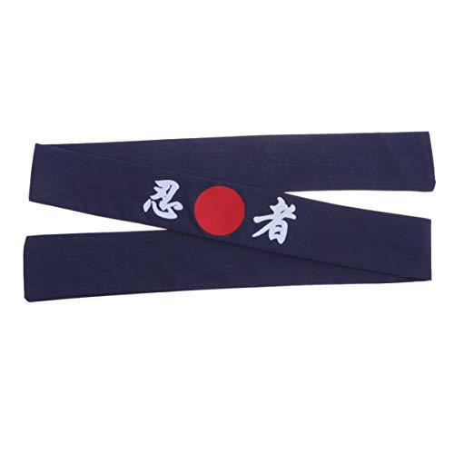 Lurrose Herren Küche Stirnband Ninja Stirnband Sonnenaufgang Haarwickel für Sushi Koch Kochen (blau)
