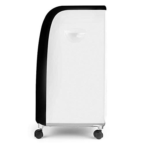 oneConcept CarribeanBlue Klimagerät Ventilator Luftbefeuchter 3in 1(Filter 70W, 3Leistungsstufen, 400m³/h, schwarz oder weiß) Schwarz