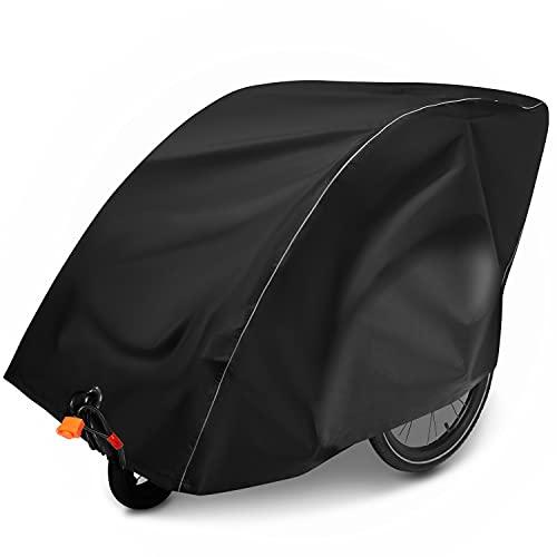 Isibell Abdeckung für Fahrradanhänger - Abschließbar - Universell - Reflektierend - 2 Sitzer