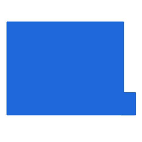仕切りガイド【A4ヨコ型 [ラテラル] 】書類 棚 カルテフォルダー 仕切り板 整理 トレー 10枚セット (ブルー)