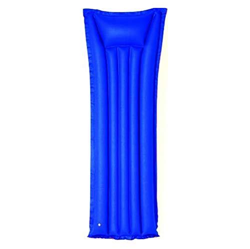 Bavaria Home Style Collection- Aufblasbare Luftmatratze stabile Wasser Badematratze Liegematratze aus Baumwolle Farbe Blau Größe 175 cm x 69 cm für Single