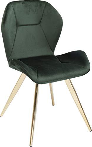 Kare Design Stuhl Viva, samt- grüner eleganter Stuhl, perfekt als Esszimmerstuhl oder Schminktischstuhl, stabil auf filigranen Beinen, (H/B/T) 82x45x52