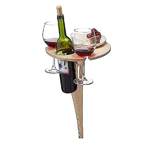 ZYQ Mesa De Vino Tinto Plegable De Madera Al Aire Libre Estante Portátil para Copas De Vino con Mesa De Picnic (Size : 40 * 20cm)