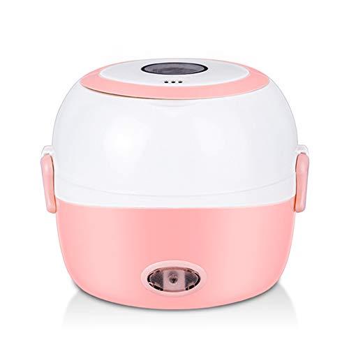 DAMAI Fiambrera Eléctrica Comida Térmico Lunch Box Fiambreras Bento Bandeja Extraíble Acero Inoxidable Recipiente De Comida Térmico Rosa