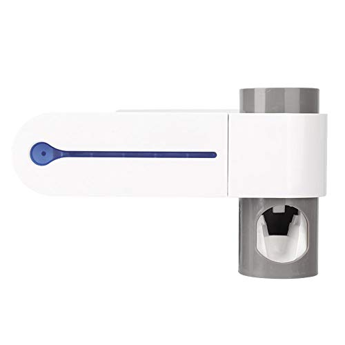 koulate 3-in-1 Zahnbürstenreiniger, wandmontierter UV-automatischer Zahnpastaspender Zahnbürstenhalter Reiniger für Familien, Kinder, elektrische Zahnbürste(EU)