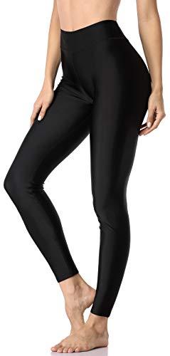 ATTRACO Swim Leggings Women Swimming Pants UPF 50+ Rash Guard Pants Black L