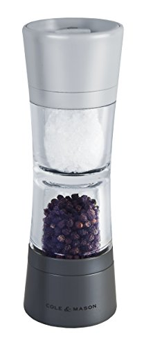 Cole & Mason Lincoln Duo Salt and Pepper Grinder Combo, Acrylic Combination Mill Includes Premium Salt and Peppercorns
