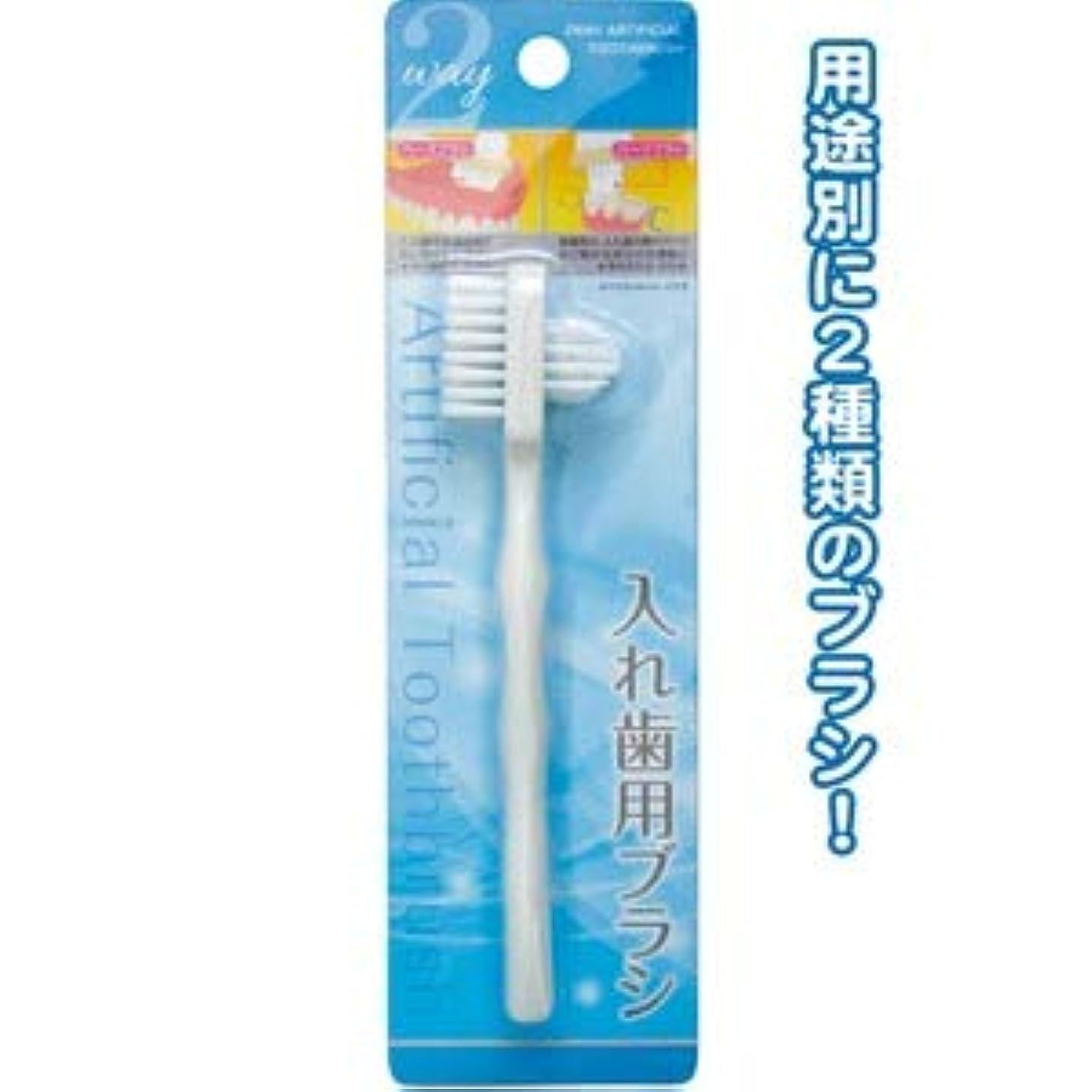 有罪佐賀晩餐2Way入れ歯用ブラシ 41-233【12個セット】