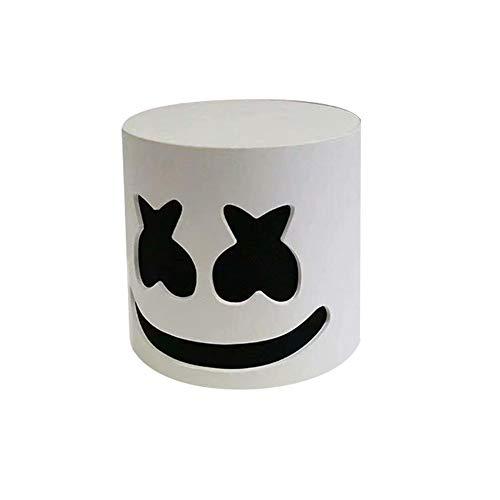 Máscara de bricolaje para DJ PVC Casco Festival de música Malvavisco Sombrero Discoteca Bar Máscara Fiesta Disfraz Prestaciones Prestaciones - Blanco