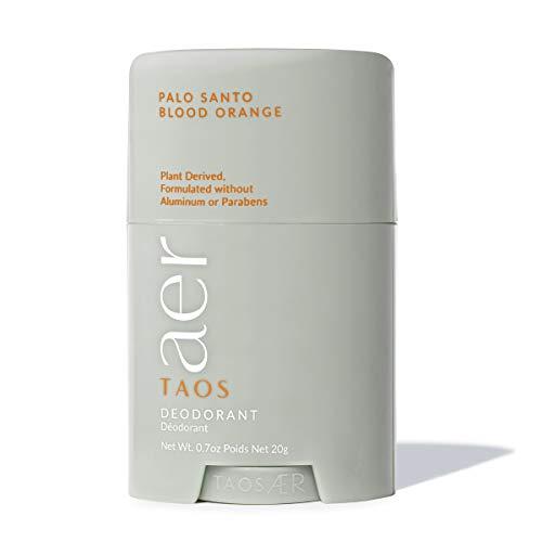 Clean Deodorant Mini - Taos AER - Natural Deodorant for Women & for Men - Aluminum Free, Cruelty Free & Paraben Free, Essential Oils - Long-lasting, Naturally Scented - Palo Santo Blood Orange