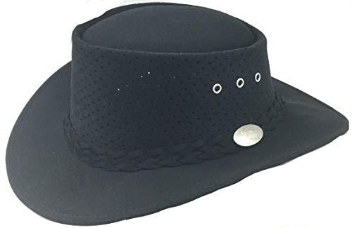 Aussie Chiller Bushie Perforated Golf Hat Black Large