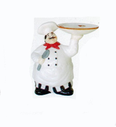 Amazon Com Grace Fat Italian Chef With Tray Kitchen Decor Counter Top Figurine Home