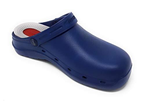 Zueco Laboral CRUBE 150 Azul.Diseñado y estudiado para Personas Que andan y...