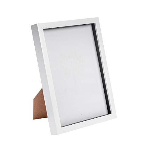 Nicola Spring Acrylic Box Picture Glass Photo Frame, Standing & Hanging - White - 8 x 12 (A4)