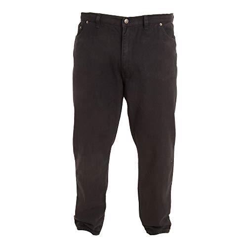 Duke - Pantalón cómodo Modelo Rockford Tallas Grandes para Hombre (147 cm Corto) (Negro)