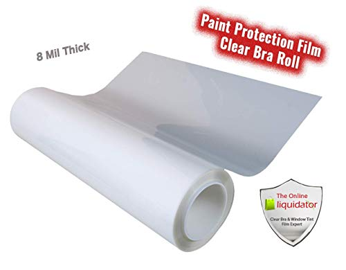 """The Online Liquidator Paint Protection Film 6"""" inch x 50' feet (600"""") Roll Clear Bra Uncut Invisible Viny Shield for Cars Bulk"""