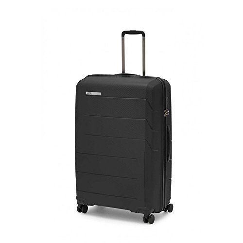 Ciak Roncato - Maleta Mediana rígida de Polipropileno, Equipaje para Viajes y Vacaciones, Serie Air Color Negro