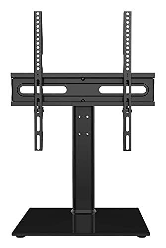 TELEVISOR Tapa de la Mesa de Soporte/Base con Soporte de Pared para 27 a 55 Pulgadas de 9 Niveles de Altura de Nivel de Vidrio Templado Ajustable (Size : HT06B-002P)