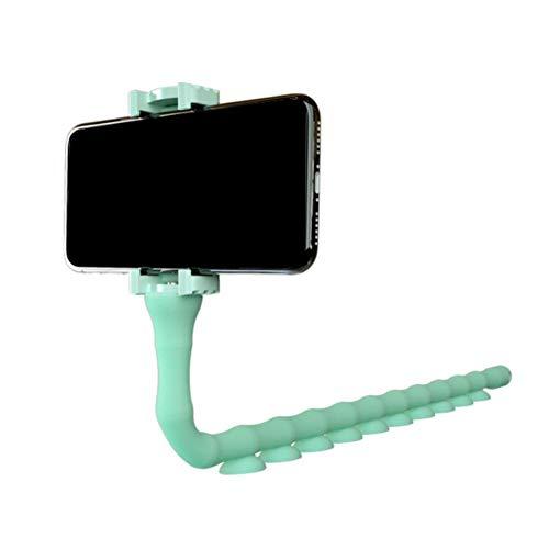 Kesio Soporte para teléfono celular con ventosa flexible de goma flexible de 360 grados, para iPhone 12 11 Pro Max, mesita de noche, oficina, accesorios de escritorio (verde)