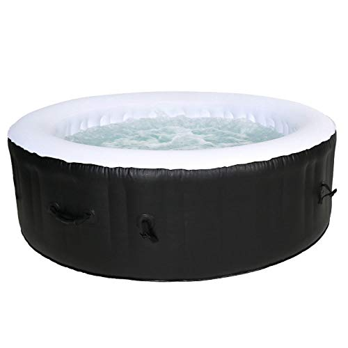 Cocooning Water - Spa Gonflable Rond Ø208cm 5-6 Places - 130 Jets - Filtrage et Chauffage - 1000L -...