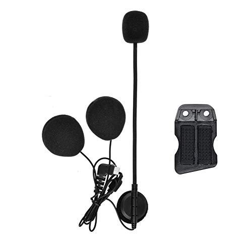 QSPORTPEAK Micrófono Auricular Cable Duro Auricular y Clip Accesorio para BTS2 Serie Casco de la Motocicleta Bluetooth Interphone Moto Intercomunicador(Interfaz de Tipo C)