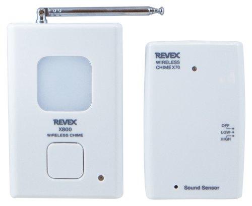 リーベックス(Revex) ワイヤレス チャイム Xシリーズ 送受信機セット 呼び出しチャイム セット 音 センサー...