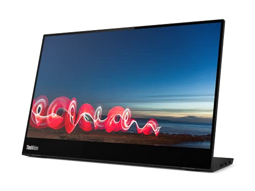 Lenovo ThinkVision M14t - Computer Monitor LED 14', 1920 x 1080 Full HD (1080p) @ 60 Hz, Touch Screen, Black