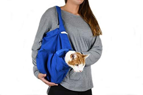 Cat-in-The-Bag Sac de transport confortable pour chat Bleu cobalt Taille XL
