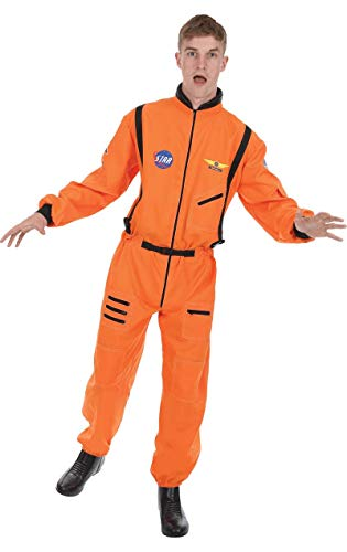 ORION COSTUMES Herren Orange Astronaut Pilotenuniform Raumanzug Maskenkostüm