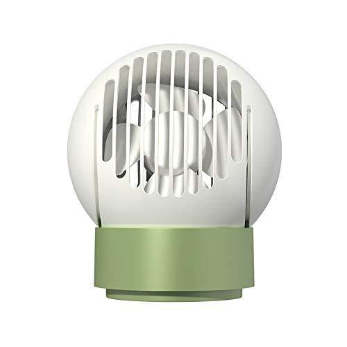 Huante Pequeño Ventilador eléctrico, 3-en-1 Multifuncional de Iones Negativos purificación de carbón Activado Filtro de núcleo de Control Remoto for la Cubierta (Color : White)