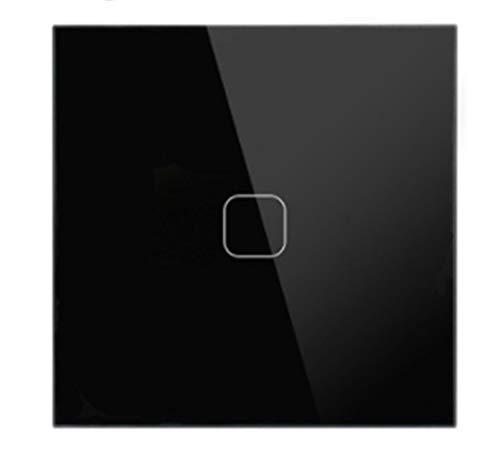 GUODONG MAYE2021 Lujo Interruptor de la Pared del Sensor del Tacto de la UE/UK Estándar Luz de Cristal de Cristal Gris Interruptor del Tacto de la cuadrilla de energía 1/2/3 1 Camino AC 220