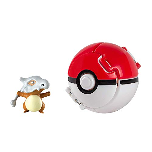 EHERIC Pokemon Throw 'N' Pop Poke Ball, Pikachu and Poke Ball Action Toy Figure for Children's Toy Set (Pokéball con Cubone)