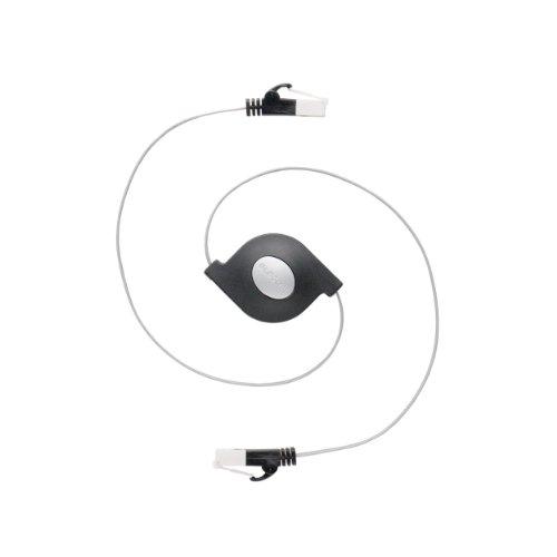 エレコム LANケーブル CAT6/爪折れ防止 巻取/1.5m ブラック LD-MCTGT BK 1個 ELECOM