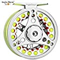 AnglerDream 1 2 3 4 5 6 7 8WT Fly Reel with Line Combo Large Arbor Aluminum Fly Fishing Reels by AnglerDream