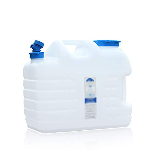 XCYYBB Bidon Agua,Bidones para Agua,Homologado para Transporte,Almacenamiento Barril De Agua Potable Barril De Cerveza Portátil Coche De Gran Capacidad-Blanco 19l